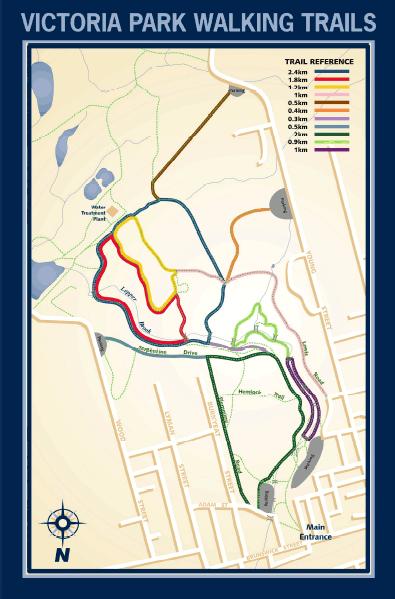 Victoria Park Trail Map