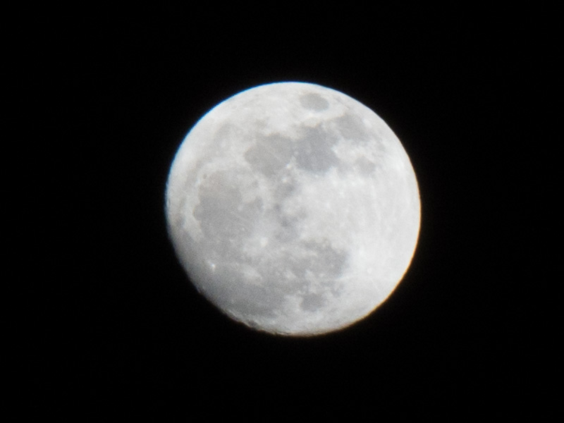Photo of the moon using 300mm lens or 12.5X Zoom cropped