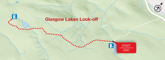 Glasgow Lakes Look-off Trail Map
