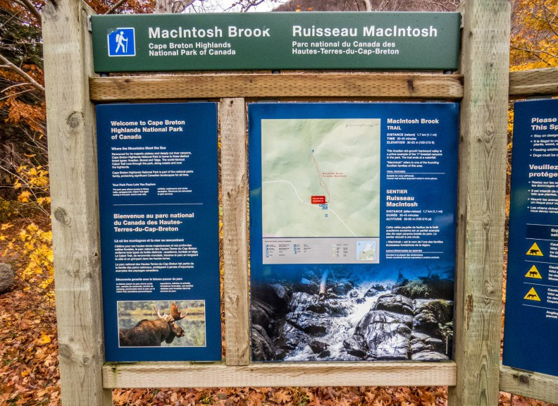 MacIntosh Brook Trail Sign